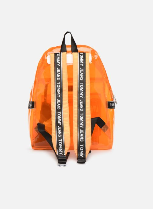 Sacs à dos Tommy Hilfiger TJU LOGO TAPE BACKPACK TRAN Orange vue face