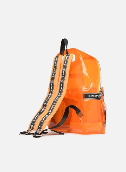 Sacs à dos Tommy Hilfiger TJU LOGO TAPE BACKPACK TRAN Orange vue droite