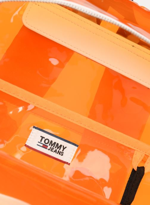 Rugzakken Tommy Hilfiger TJU LOGO TAPE BACKPACK TRAN Oranje achterkant