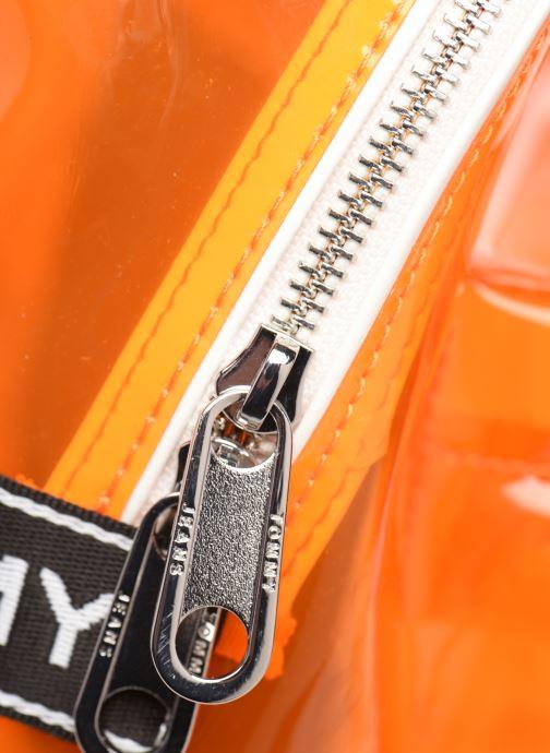 Rucksäcke Tommy Hilfiger TJU LOGO TAPE BACKPACK TRAN orange ansicht von links