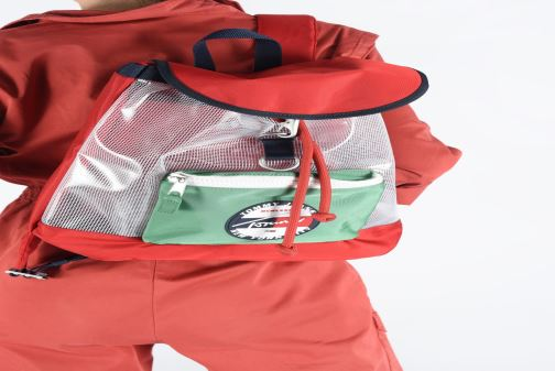Rucksäcke Tommy Hilfiger TJU HERITAGE BACKPACK HERIT mehrfarbig ansicht von unten / tasche getragen