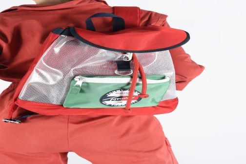 Sacs à dos Tommy Hilfiger TJU HERITAGE BACKPACK HERIT Multicolore vue bas / vue portée sac