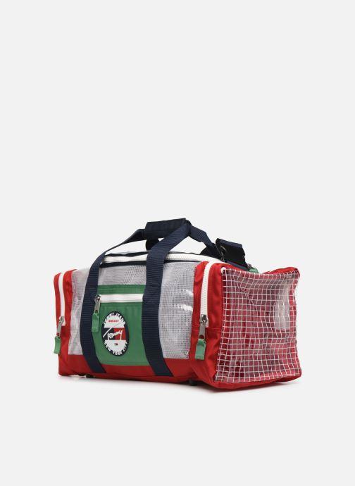 Sporttaschen Tommy Hilfiger TJU HERITAGE DUFFLE HERIT mehrfarbig schuhe getragen