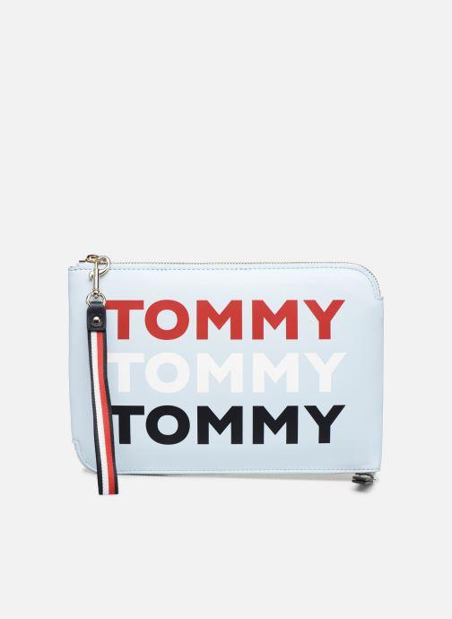 Bolsos Clutch Tommy Hilfiger ICONIC TOMMY POUCH Azul vista de detalle / par