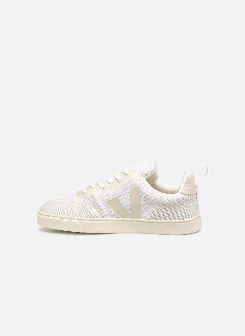 Sneaker Veja V-10 Malha weiß ansicht von vorne
