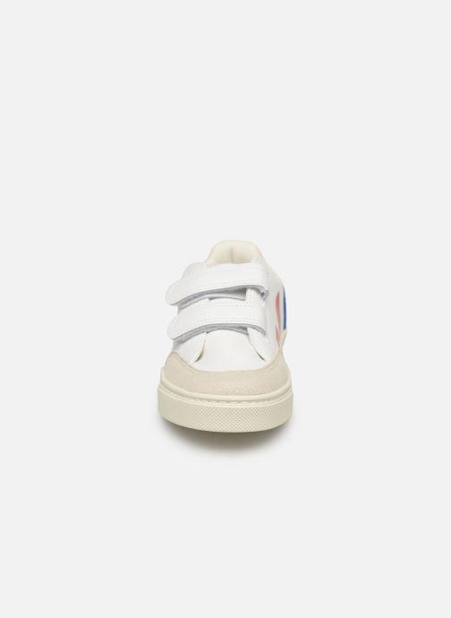Sneakers Veja V-12 SMALL LEATHER Multi bild av skorna på
