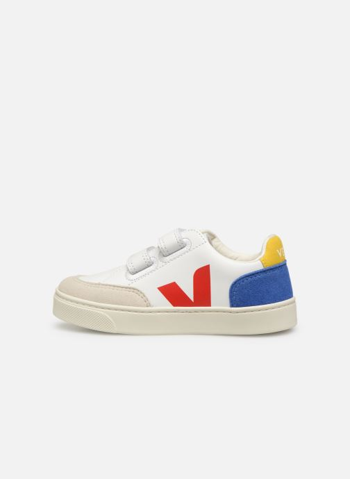 Trainers Veja V-12 SMALL LEATHER Multicolor front view