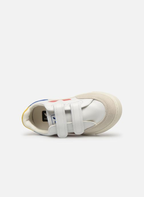 Trainers Veja V-12 SMALL LEATHER Multicolor view from the left