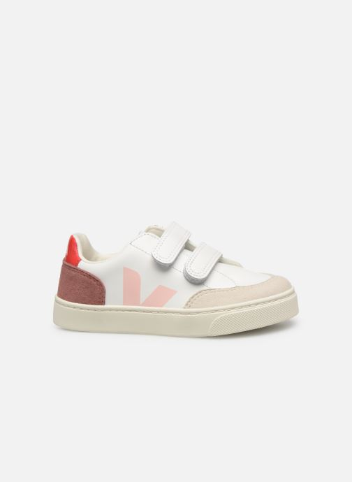 Trainers Veja V-12 SMALL LEATHER White back view