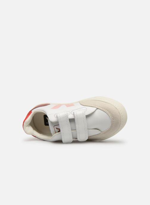Sneaker Veja V-12 SMALL LEATHER weiß ansicht von links