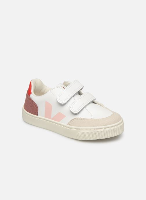 Sneakers Veja V-12 SMALL LEATHER Wit detail