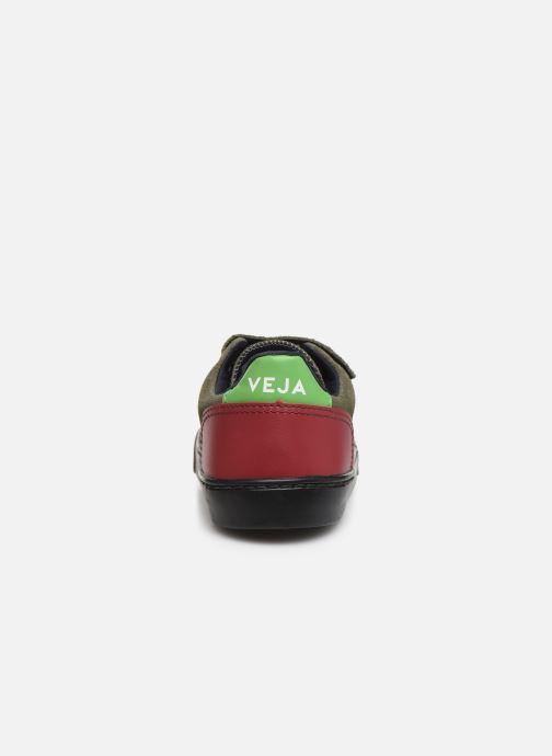 Baskets Veja V-12 SMALL LEATHER Vert vue droite