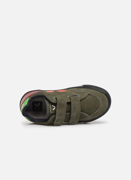 Sneakers Veja V-12 SMALL LEATHER Verde immagine sinistra