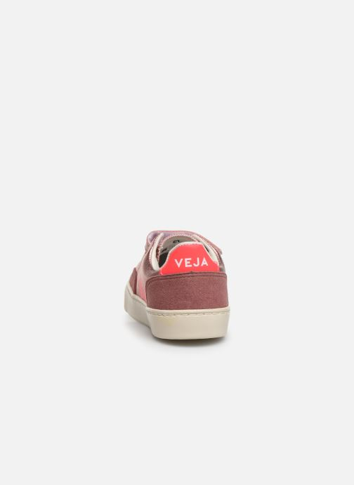 Sneakers Veja V-12 SMALL LEATHER Zilver rechts