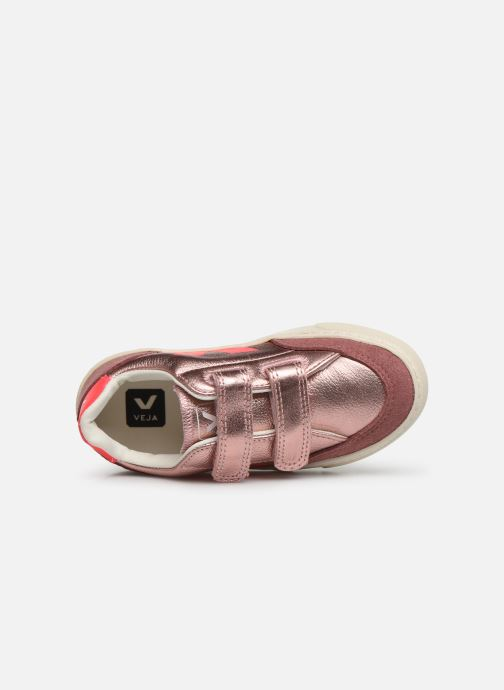 Sneakers Veja V-12 SMALL LEATHER Zilver links