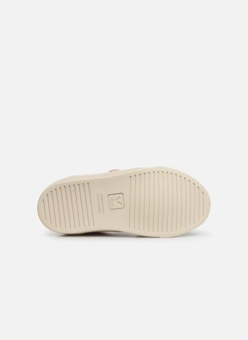 Sneakers Veja V-12 SMALL LEATHER Zilver boven