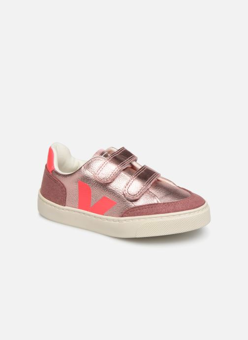 Sneakers Veja V-12 SMALL LEATHER Zilver detail