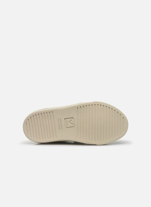 Sneakers Veja V-12 SMALL LEATHER Wit boven