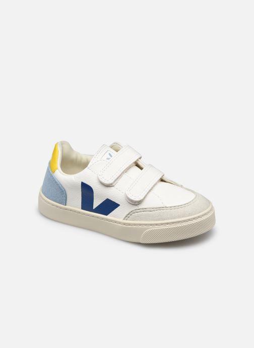 Sneaker Veja V-12 SMALL LEATHER blau detaillierte ansicht/modell