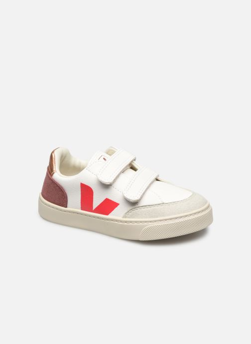 Sneakers Veja V-12 SMALL LEATHER Roze detail