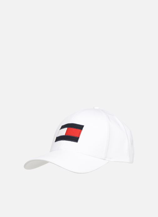 Gorra Tommy Hilfiger BIG FLAG CAP Blanco vista de detalle / par