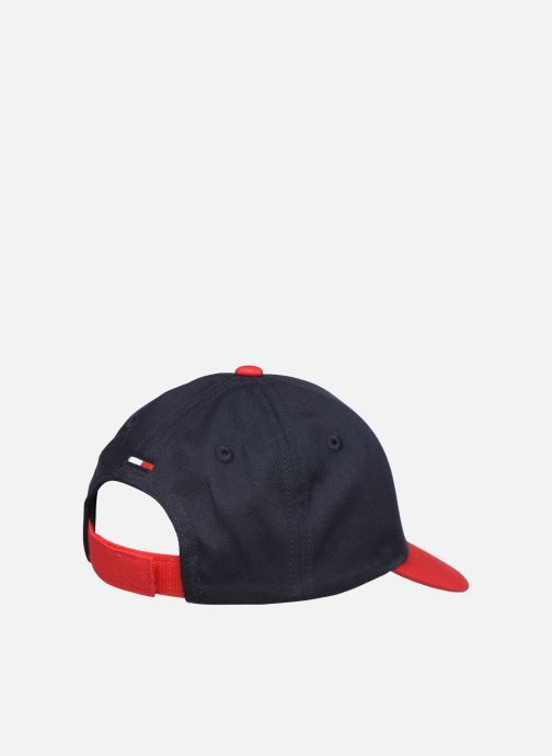 Kasket Tommy Hilfiger BIG FLAG CAP Sort se forfra