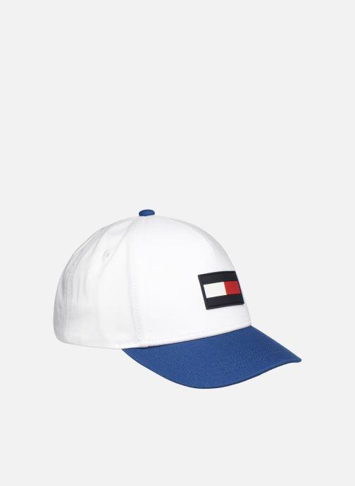 Kasket Tommy Hilfiger BIG FLAG CAP Hvid se forfra