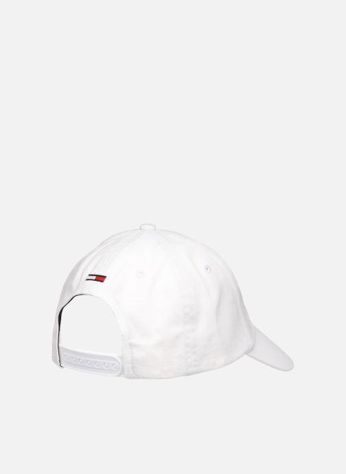 Casquettes Tommy Hilfiger TJU SPORT CAP Blanc vue portées chaussures