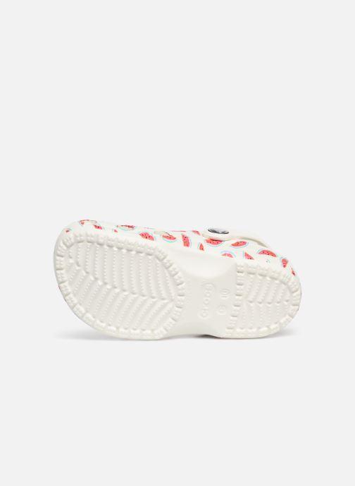 Sandales et nu-pieds Crocs Classic Seasonal Grphc Clg K Blanc vue haut