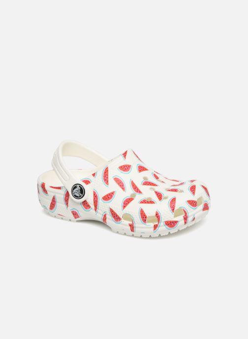 Sandales et nu-pieds Crocs Classic Seasonal Grphc Clg K Blanc vue détail/paire