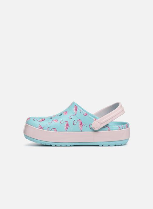Sandales et nu-pieds Crocs Crocband MultiGraphic Clog K Bleu vue face