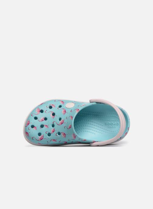 Sandali e scarpe aperte Crocs Crocband MultiGraphic Clog K Azzurro immagine sinistra