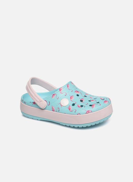 Sandales et nu-pieds Crocs Crocband MultiGraphic Clog K Bleu vue détail/paire