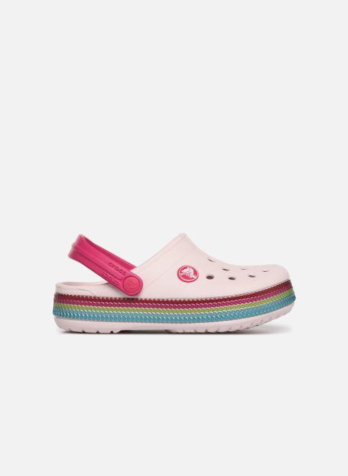 Sandalen Crocs Crocband Sequin Band Clog K rosa ansicht von hinten