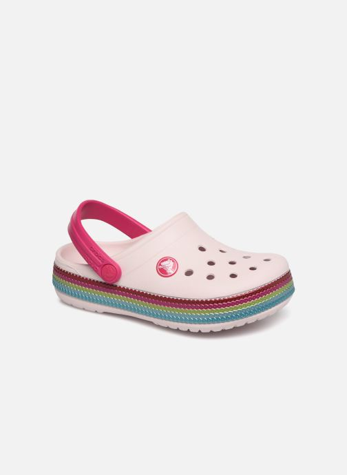 Sandales et nu-pieds Crocs Crocband Sequin Band Clog K Rose vue détail/paire