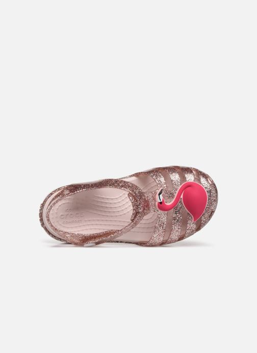 Sandaler Crocs Crocs Isabella Charm Sandal K Bronze och Guld bild från vänster sidan