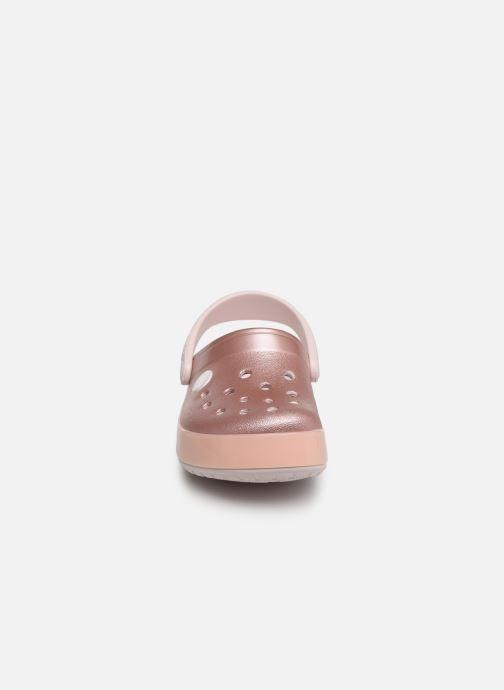 Sandales et nu-pieds Crocs Crocband Ice Pop Clog K Rose vue portées chaussures