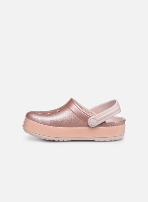 Sandales et nu-pieds Crocs Crocband Ice Pop Clog K Rose vue face