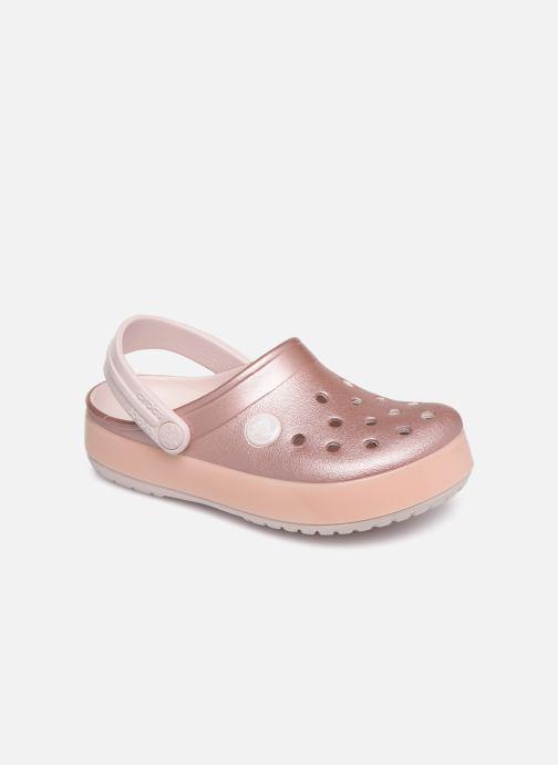 Sandales et nu-pieds Crocs Crocband Ice Pop Clog K Rose vue détail/paire