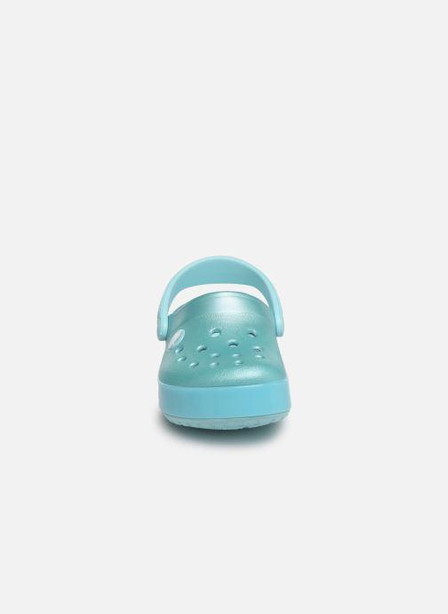 Sandales et nu-pieds Crocs Crocband Ice Pop Clog K Bleu vue portées chaussures