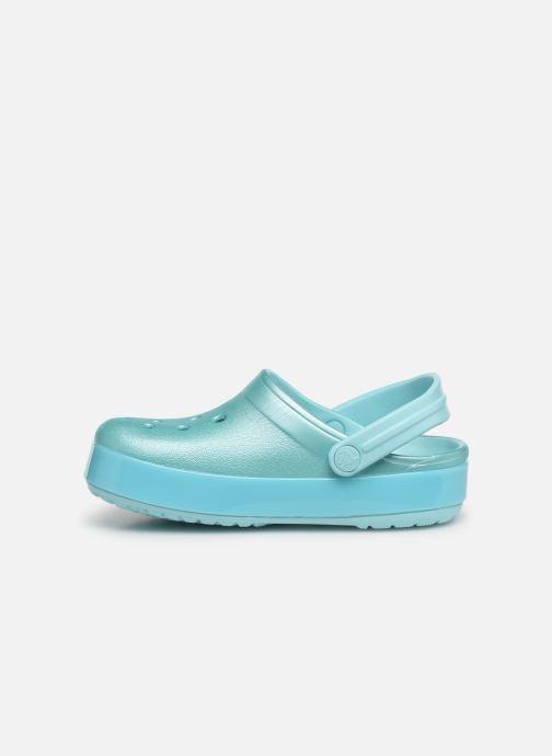 Sandalias Crocs Crocband Ice Pop Clog K Azul vista de frente