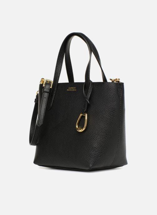 Bolsos de mano Lauren Ralph Lauren MERRIMACK MINI CROSS REVERS Negro vista del modelo