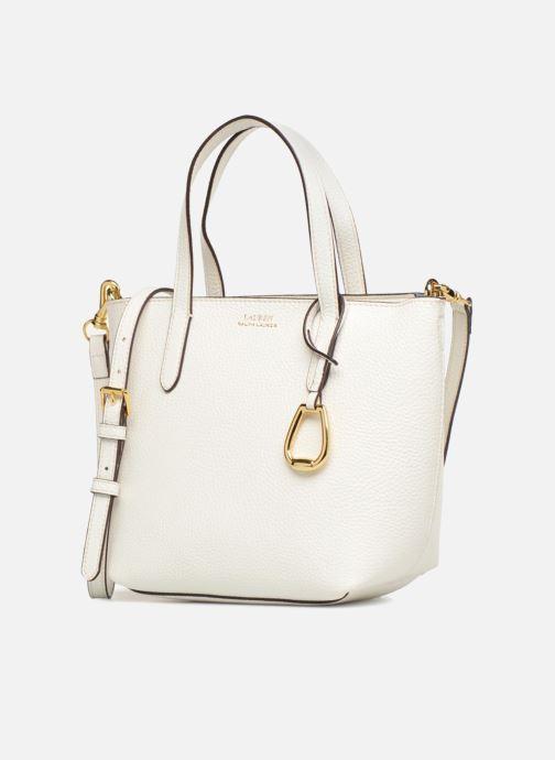 Sacs à main Lauren Ralph Lauren MERRIMACK MINI CROSS REVERS Blanc vue portées chaussures