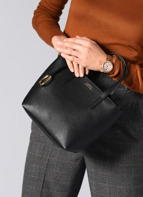 Sacs à main Lauren Ralph Lauren MERRIMACK MINI CROSS REVERS Blanc vue bas / vue portée sac