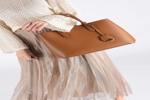 Sacs à main Lauren Ralph Lauren DRYDEN MARCY L Marron vue bas / vue portée sac