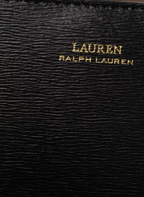 Sacs à main Lauren Ralph Lauren BENNINGTON SATCHEL M Noir vue gauche