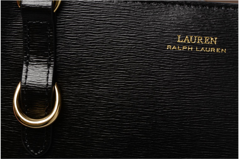 Sacs à main Lauren by Ralph Lauren BENNINGTON SATCHEL M Noir vue gauche