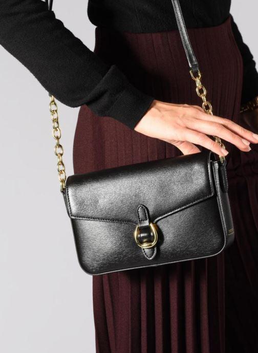 Sacs à main Lauren Ralph Lauren BENNINGTON FLAP XBODY M Noir vue bas / vue portée sac