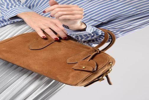 Sacs à main Polo Ralph Lauren SULLIVAN MD SATCHEL M Marron vue bas / vue portée sac