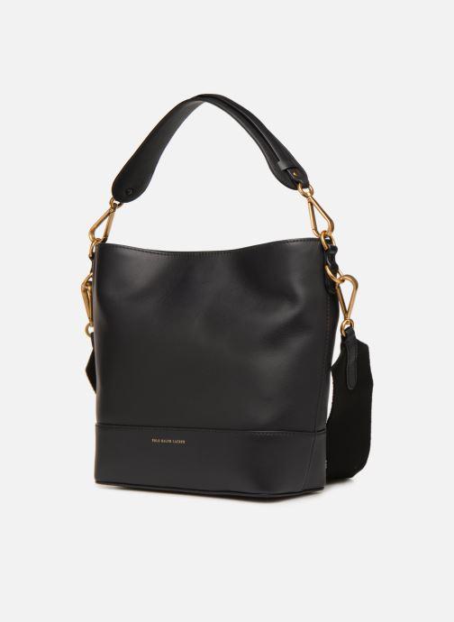 Handtaschen Polo Ralph Lauren SULLIVAN SQ BCKT HOBO S schwarz schuhe getragen